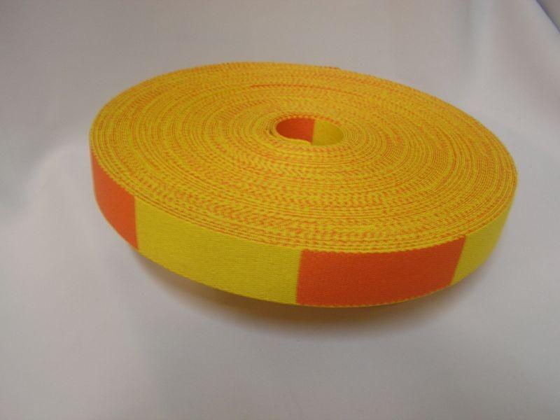 Rouleau de Ceinture de couleur bicolore Jaune/Orange