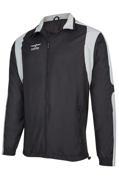 Veste de training noir gris phoenix ipponsport for Veste noir interieur ecossais